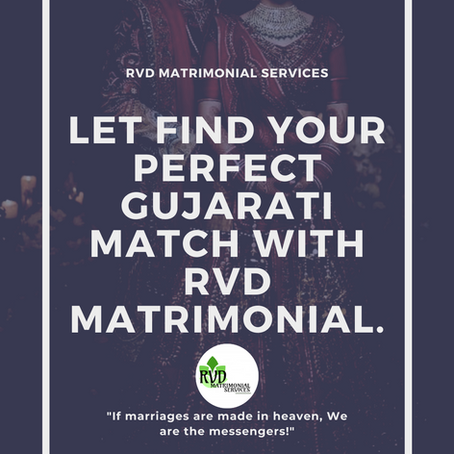 Let's Find your perfect Gujarati match with RVD Matrimonial Services.