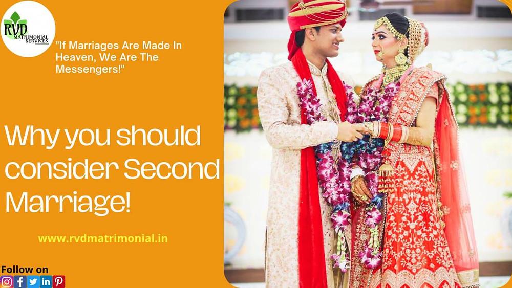 second marriage matrimonial sites | RVD Matrimonial Services