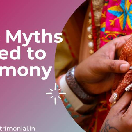 Top 5 Myths Related to Online Matrimony Sites