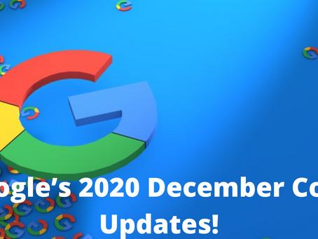 Google's 2020 December Core Updates