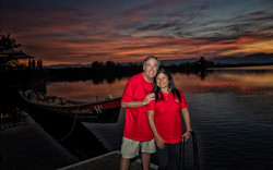Enjoying the Sunset on Inle Lake