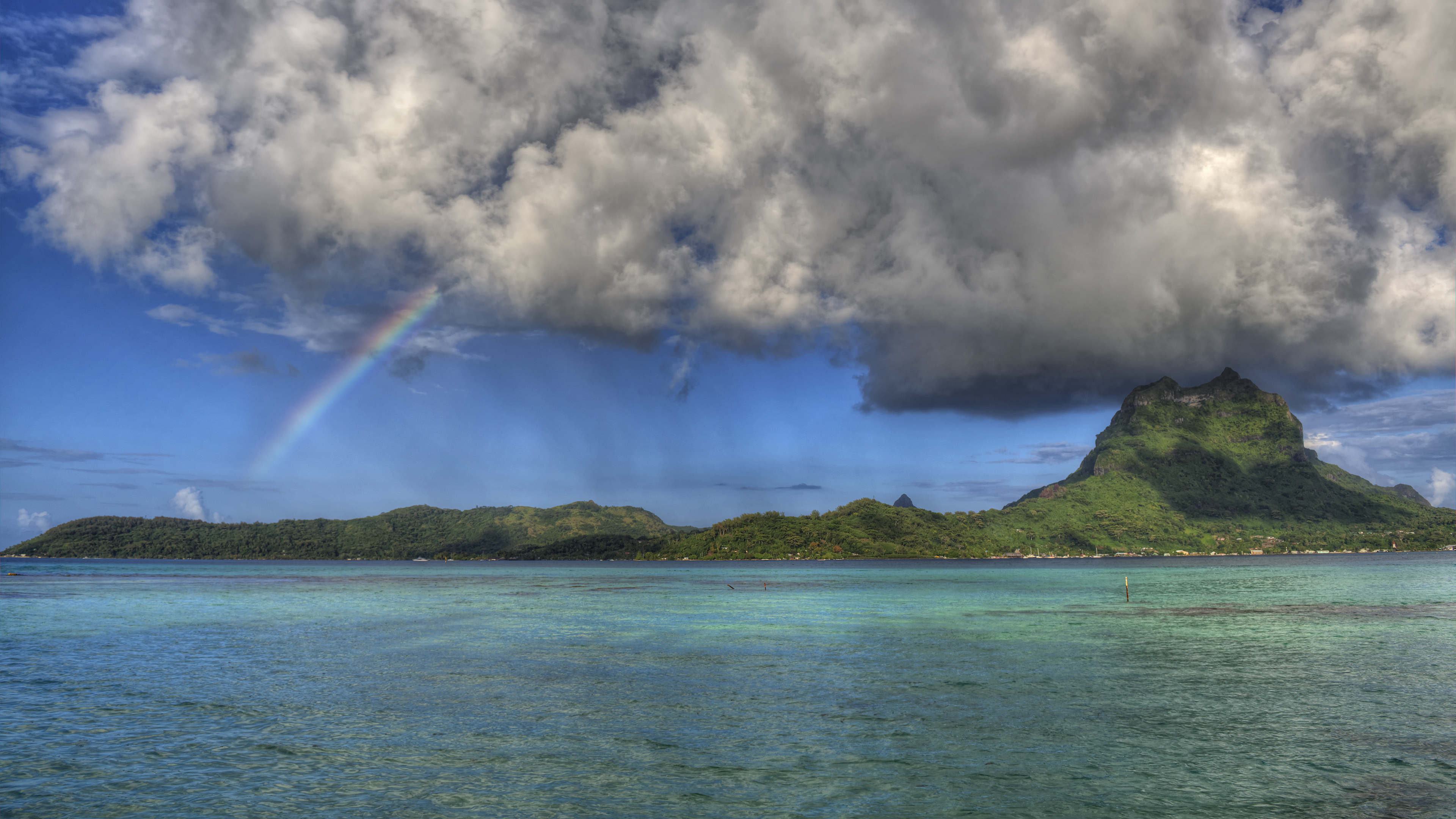Rainbow on Bora Bora