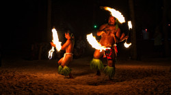 French Polynesian fire dance