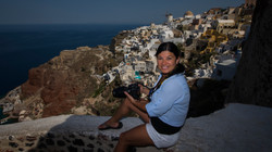 Taking Photos in Santorini