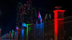 Emirates Palace and Etihad Towers