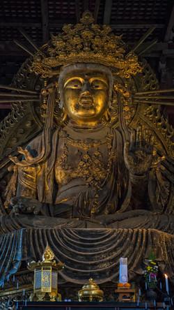 Kleine Buddha Statue im Todai-ji Temple