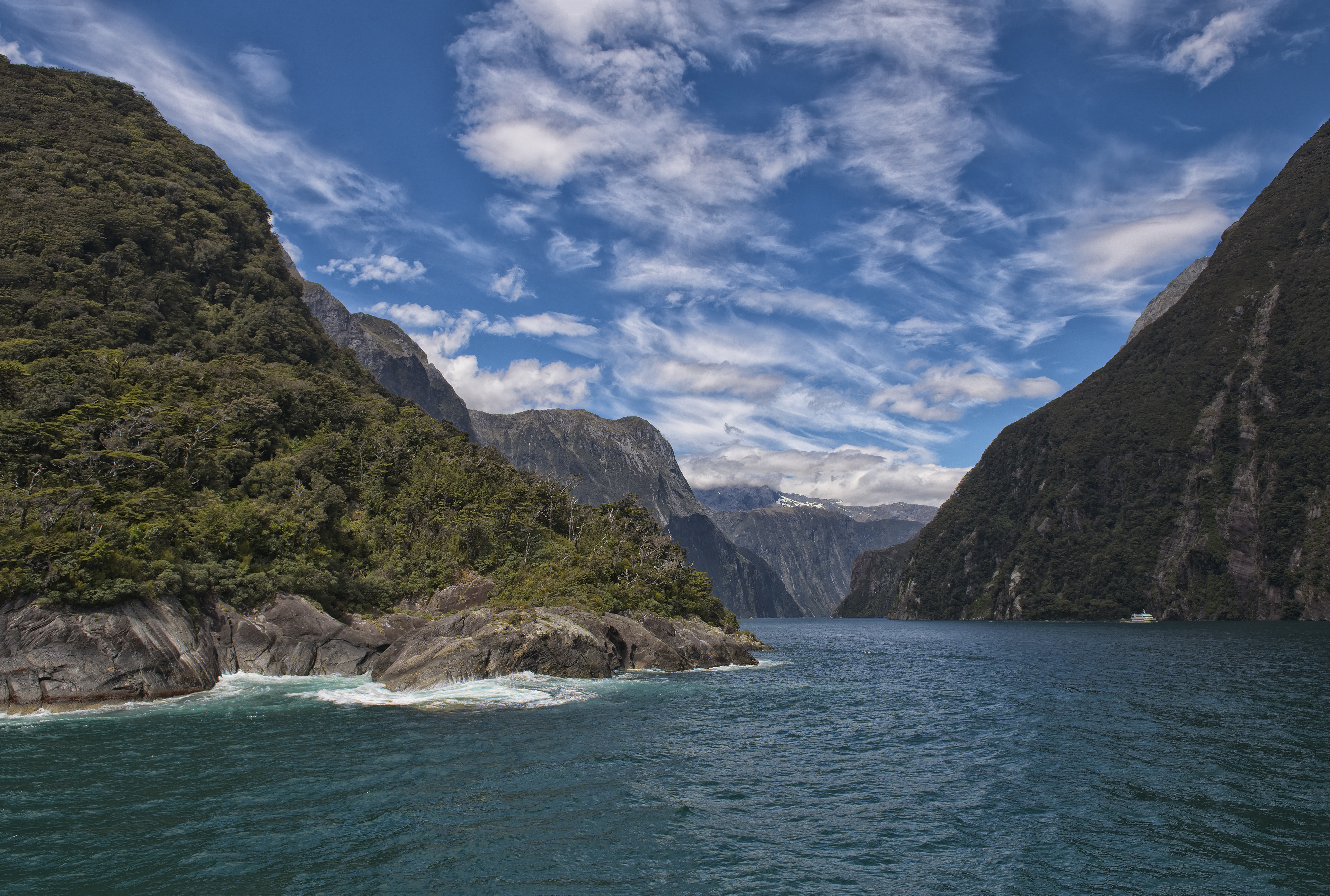 At the end of Milford Sound