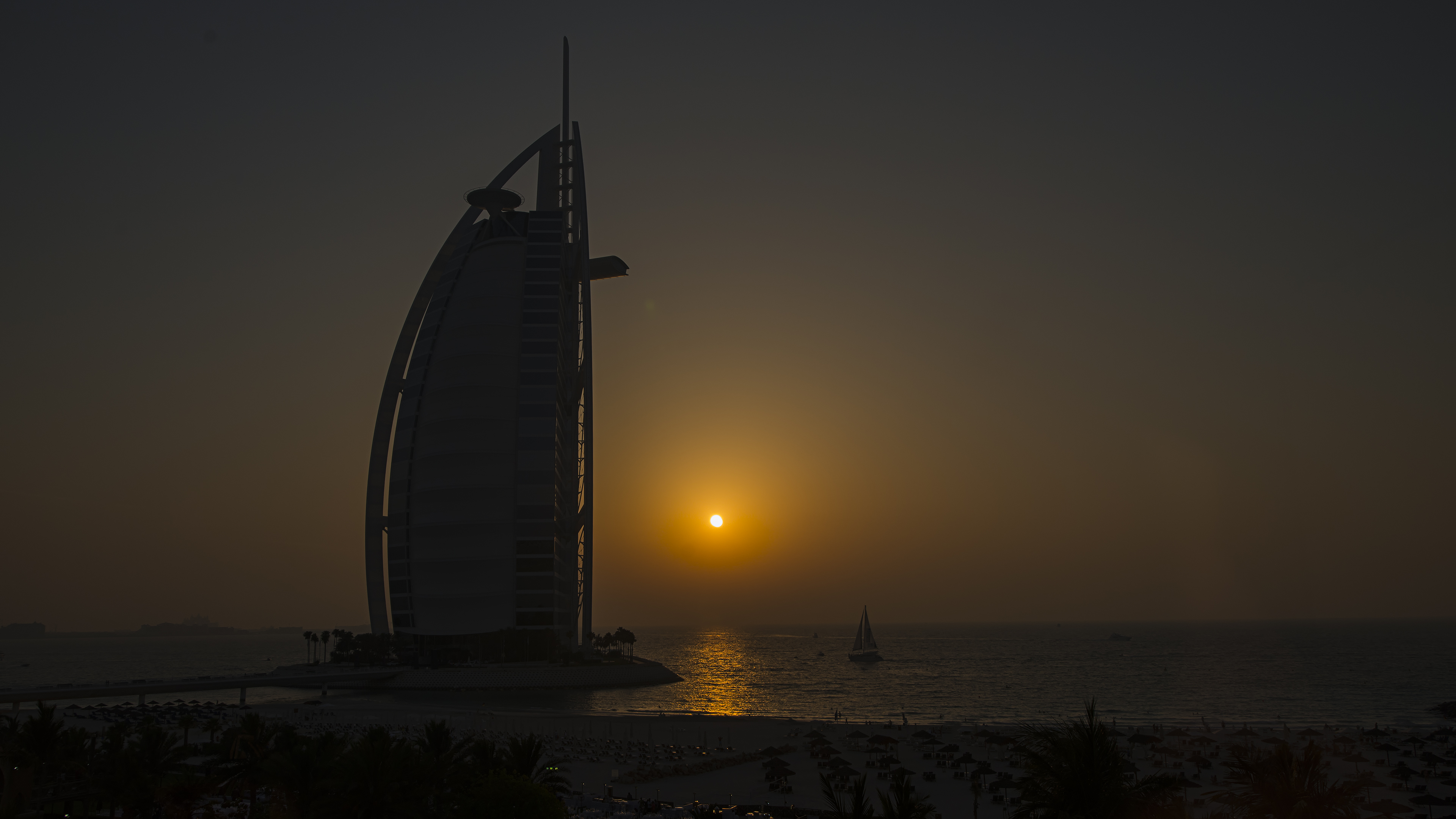 Sunset and Burj Al Arab