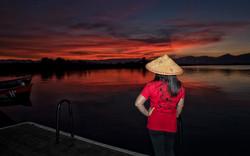 Sunset on Inle Lake