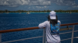 Enjoying the view of Rangiroa