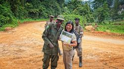 Felix presenting Gorilla Certificate