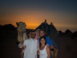 Sunset in Wadi-Rum
