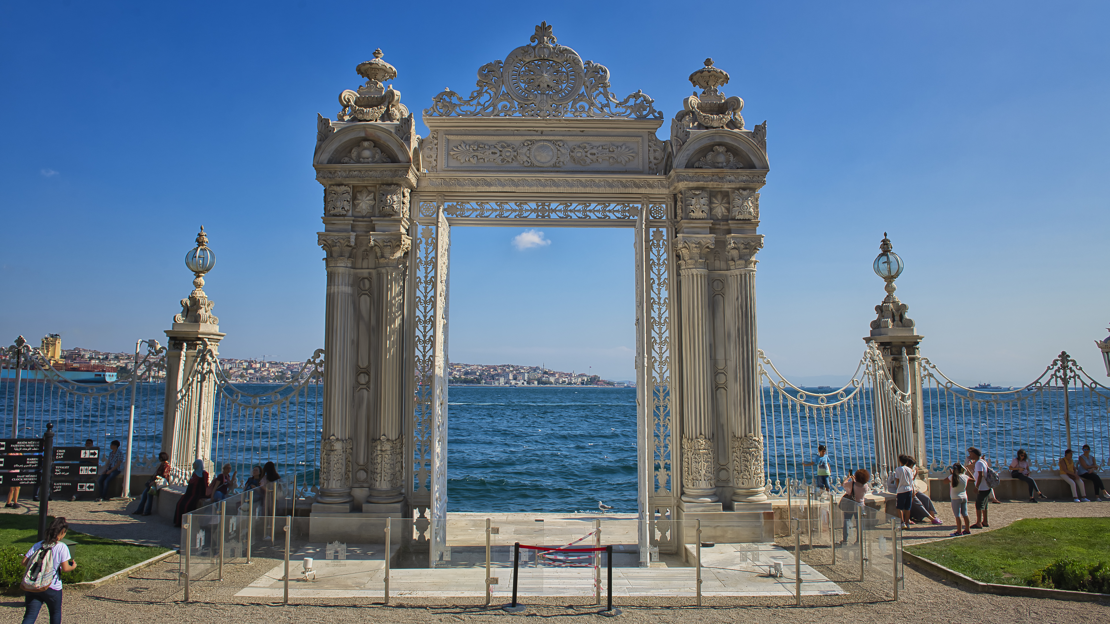 Dolmabahce Palace entrance from Sea