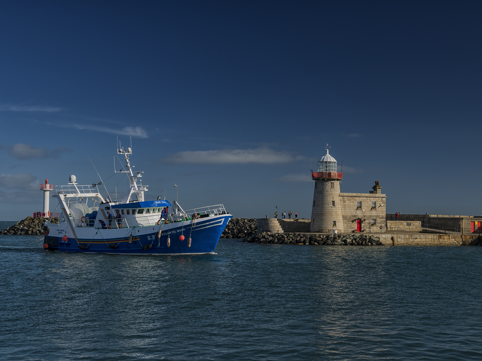 Lighthouse in Howth Marina