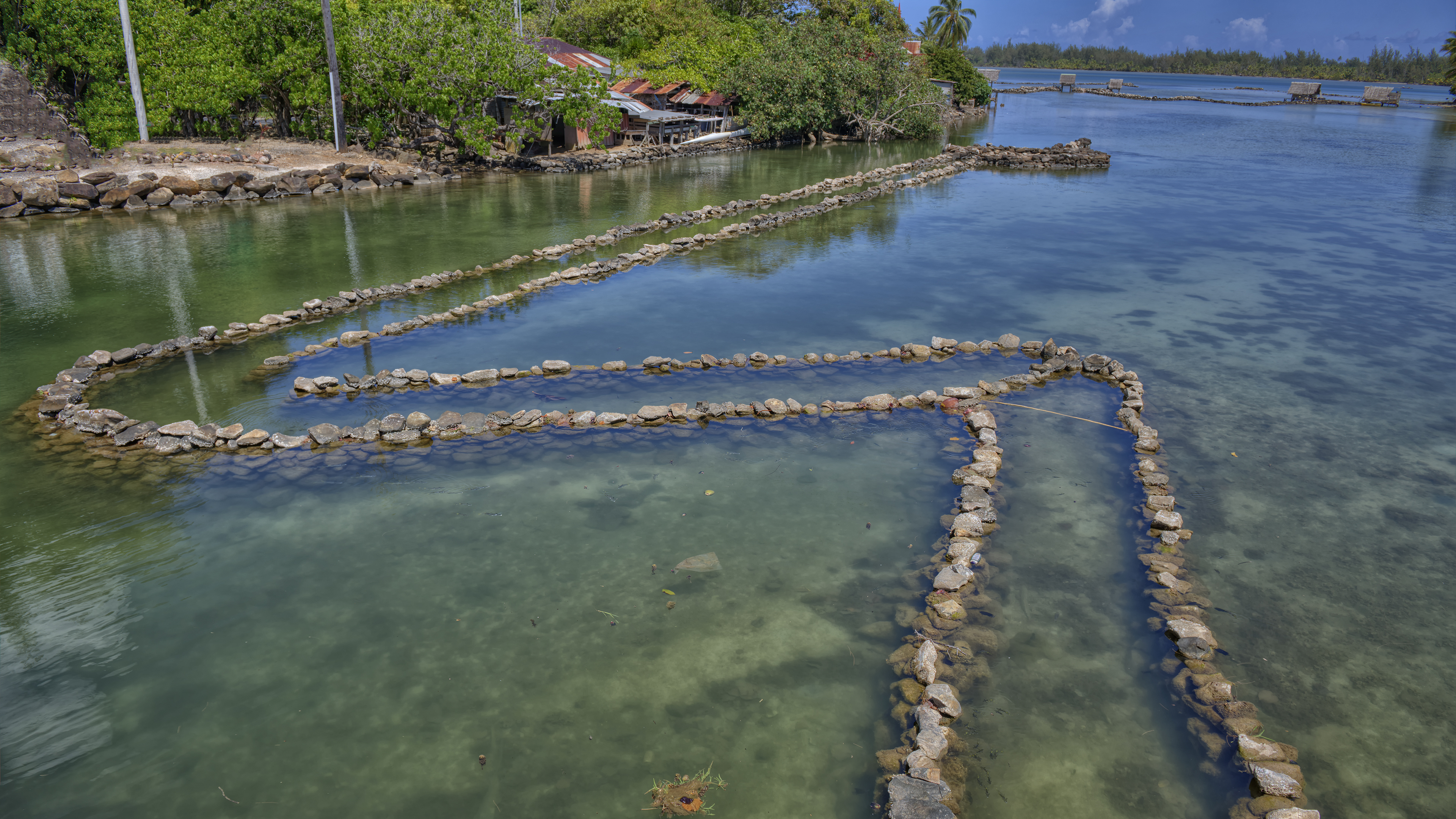 Fish Traps in Huahine