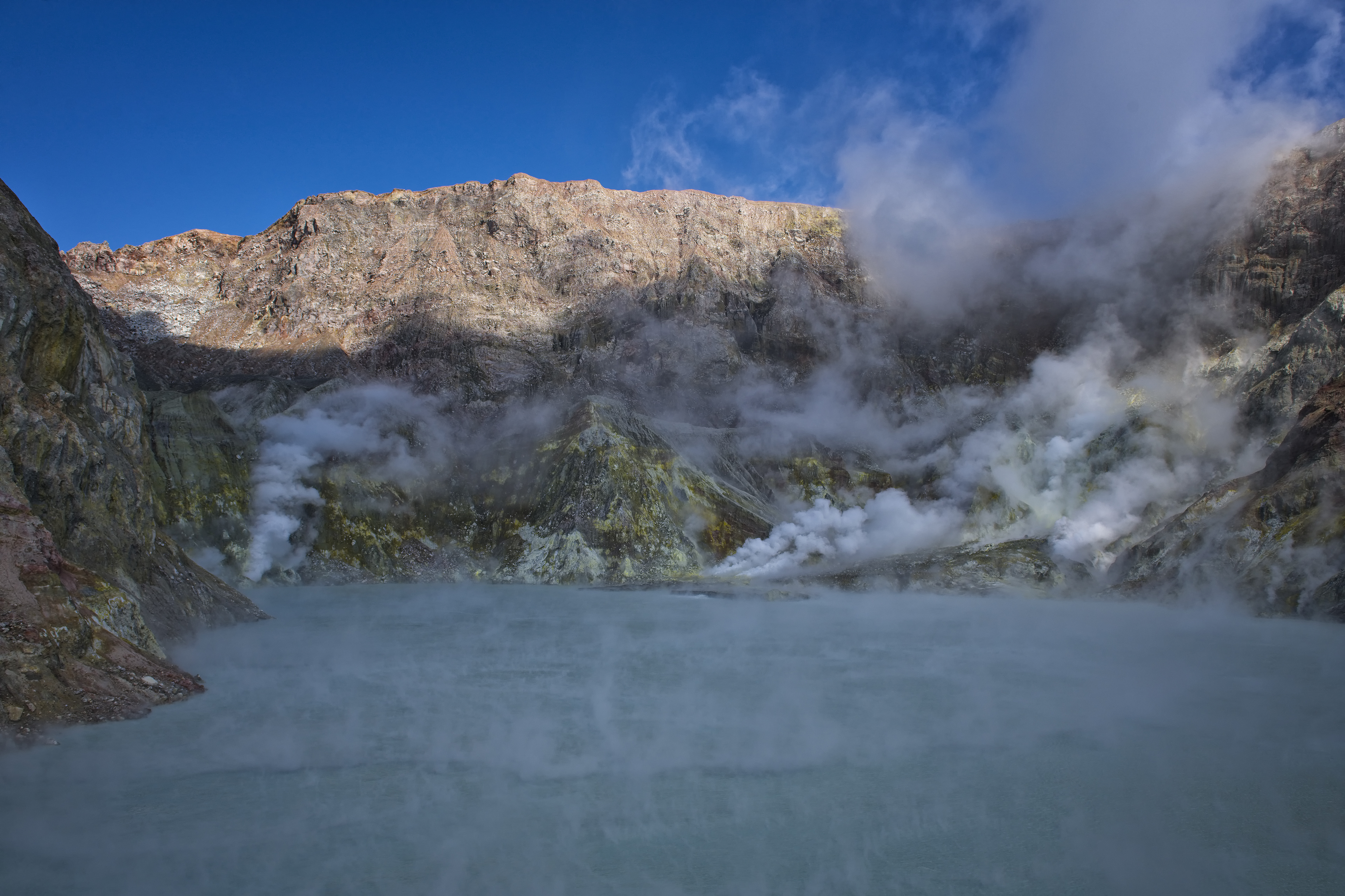 Steam venting from the Volcano