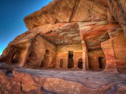 Rainbow Rocks in Petra