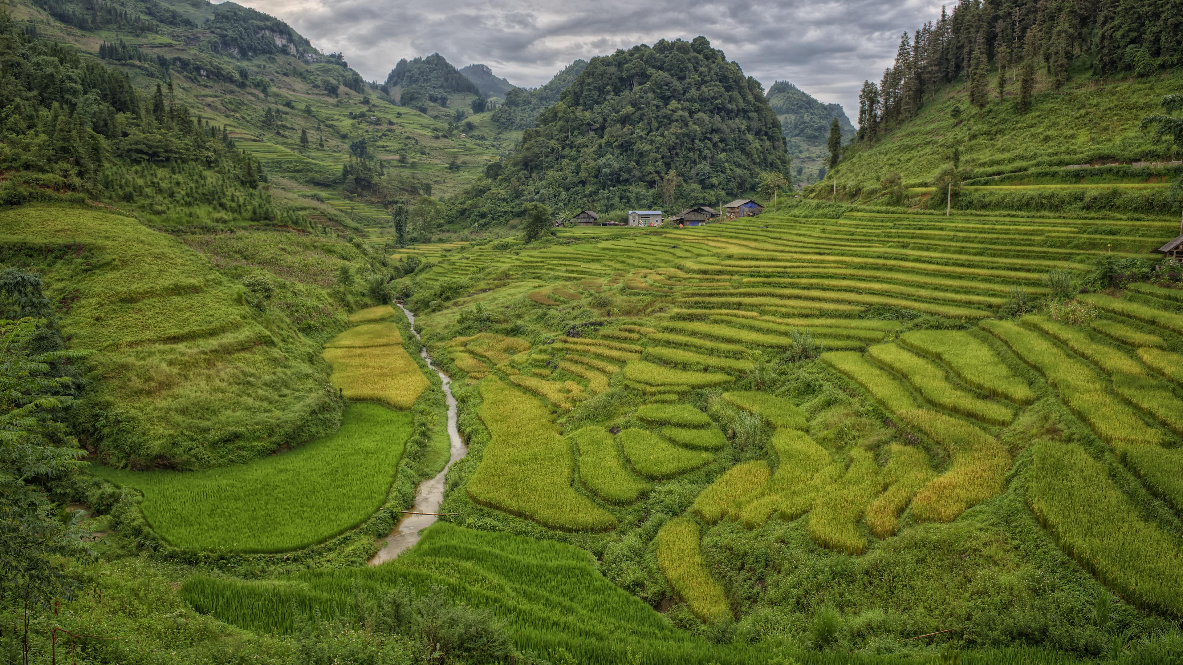 A Beautiful View around Lao Cai
