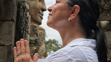 Nose to Nose with History at the Bayon Temple in Angkor, Cambodia