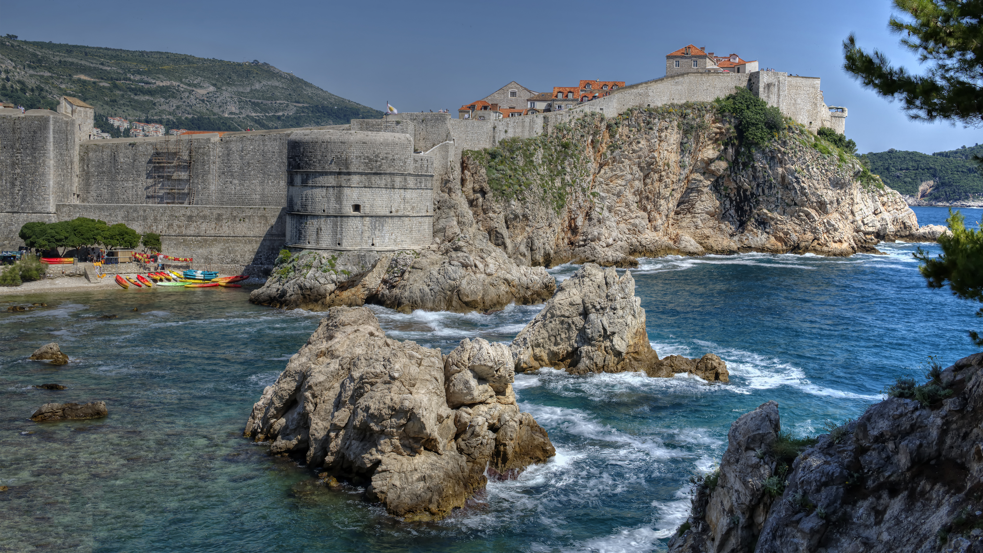 View of Dubrovnik from Fort Lovrijen