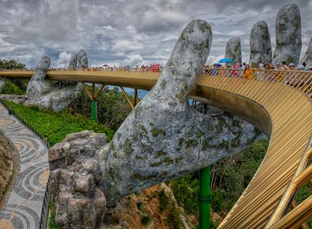 Golden Bridge or Hand Bridge near Da Nang, Vietnam
