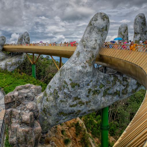 Golden Bridge or Hand Bridge near Da Nang, Vietnam
