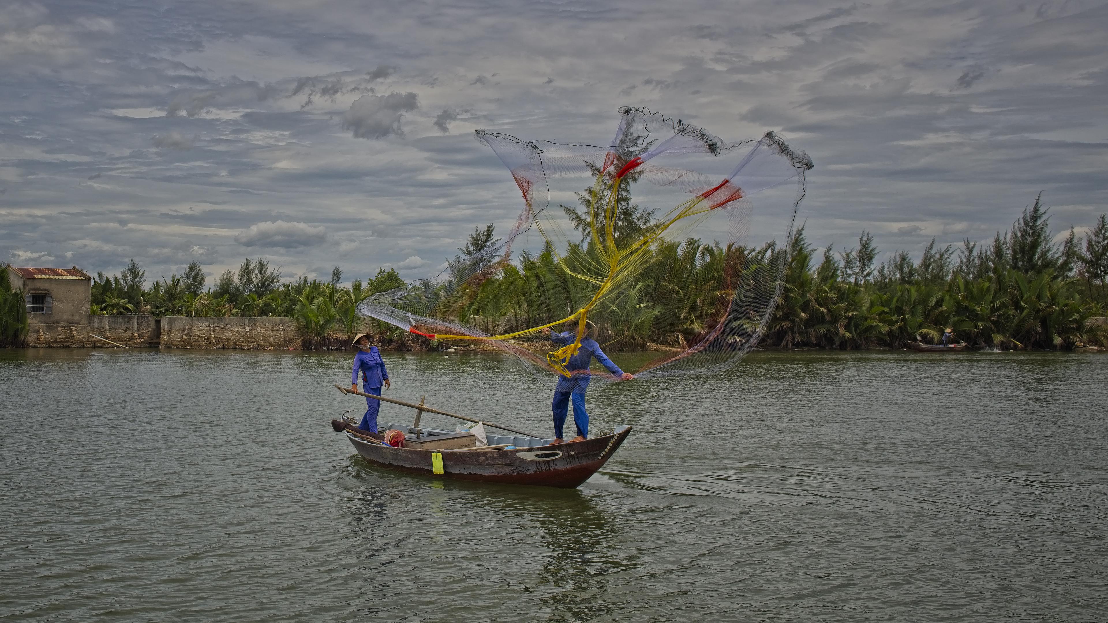 Net Fishing in Hoian