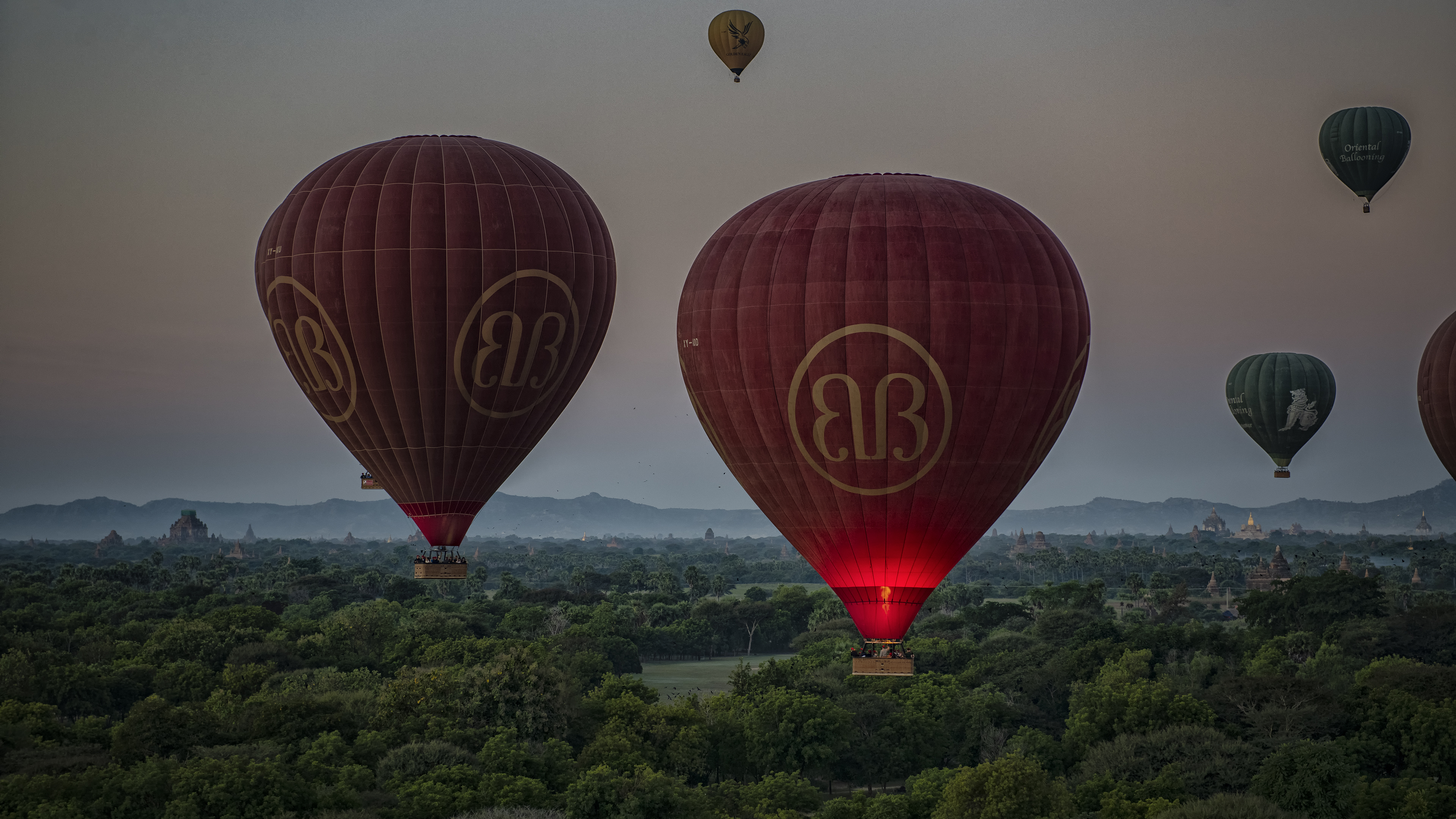 Airborne in Bagan