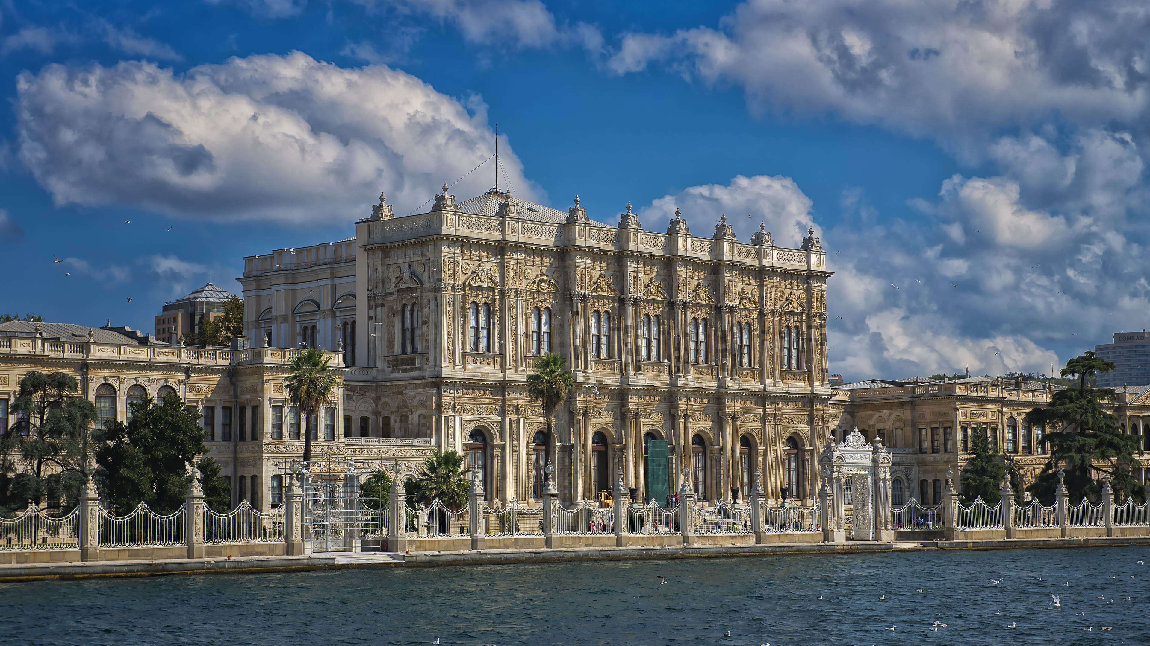 Dolmabahce Palace from the Bosporus