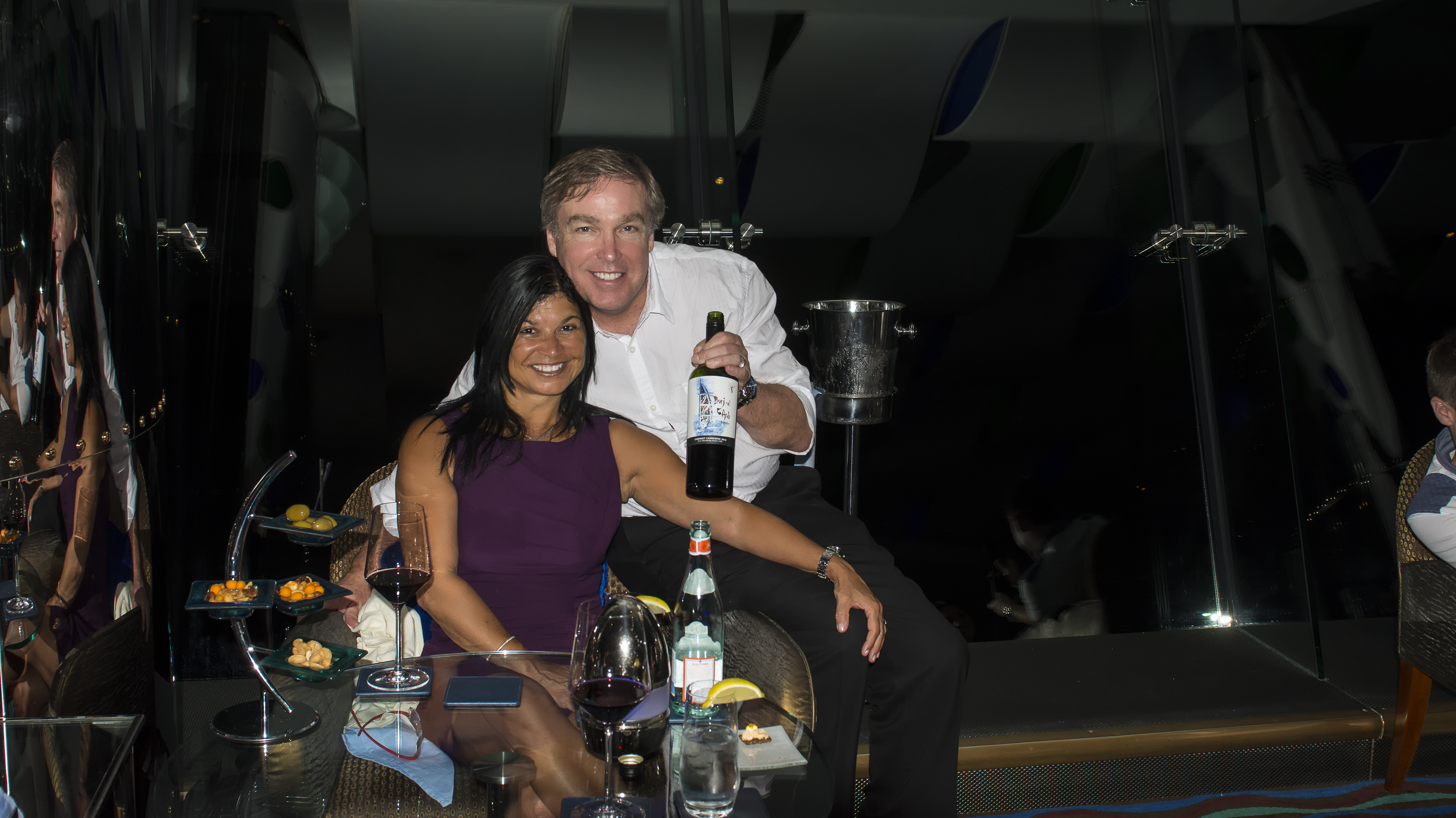 In the Sky Bar at Burj Al Arab
