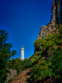 Lighthouse in Cefalu, Italy