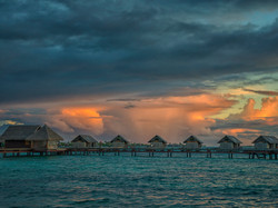 Water Bungalos with Sky