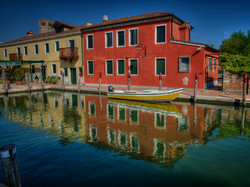 Colorfull Houses in Torcello, Italy