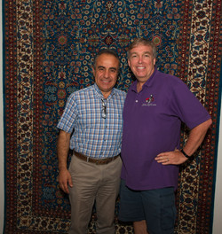 Can Karaer and I at Yuksel Carpet