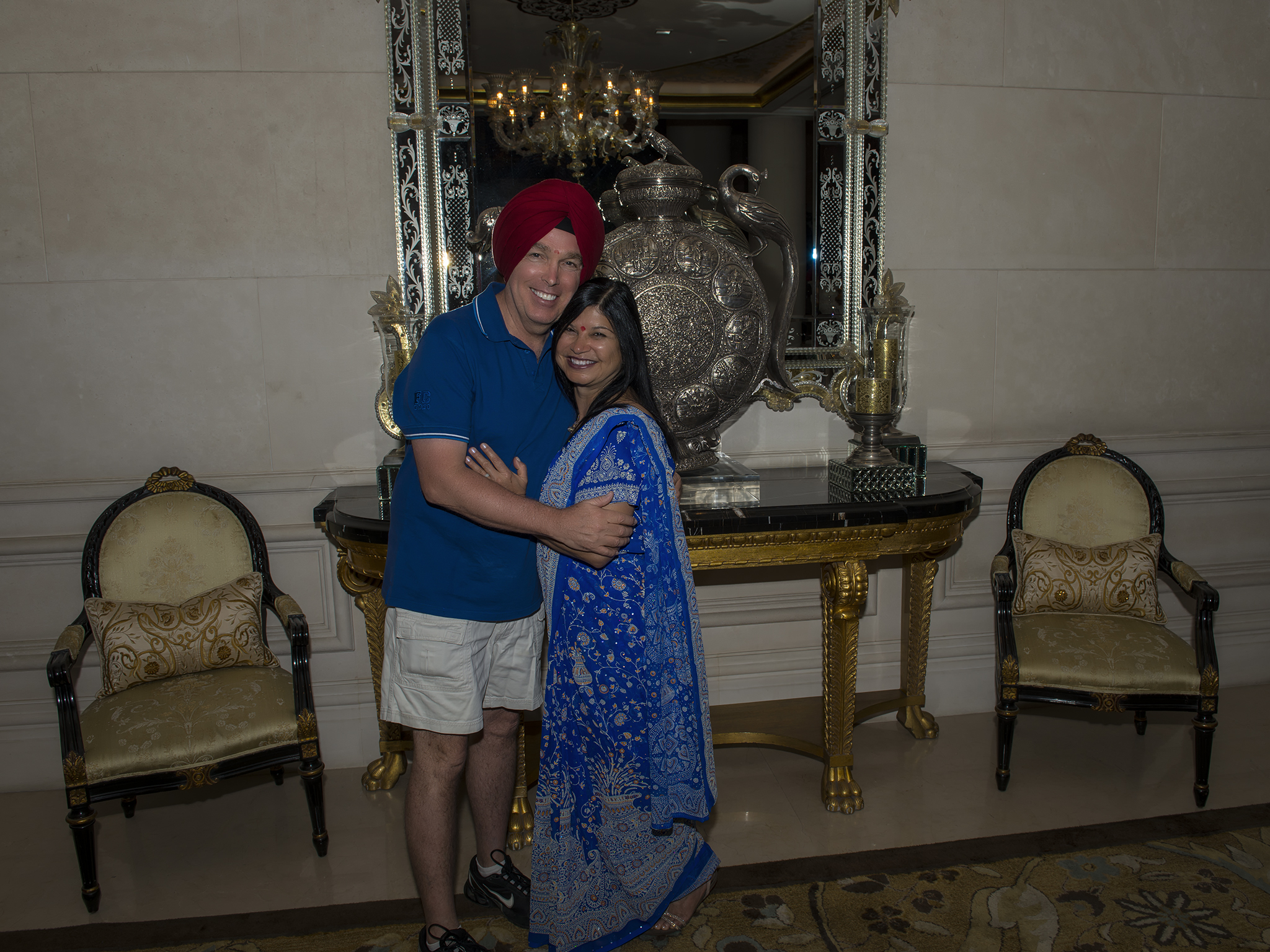 Happy Couple at Leela Palace