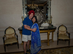 Happy Couple at Leela Palace