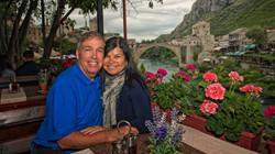 Enjoying Mostar Bridge