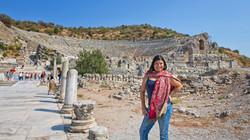 Theatre remains in Ephesus