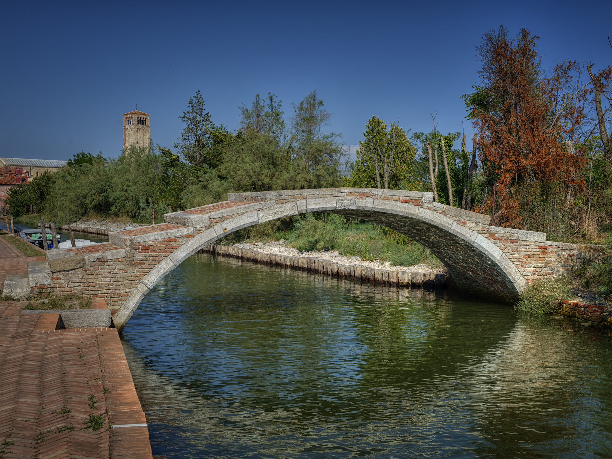 Devil's Bridge in Torcello, Italy