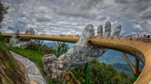 The Golden Bridge (or Hand Bridge) near Da Nang, Vietnam