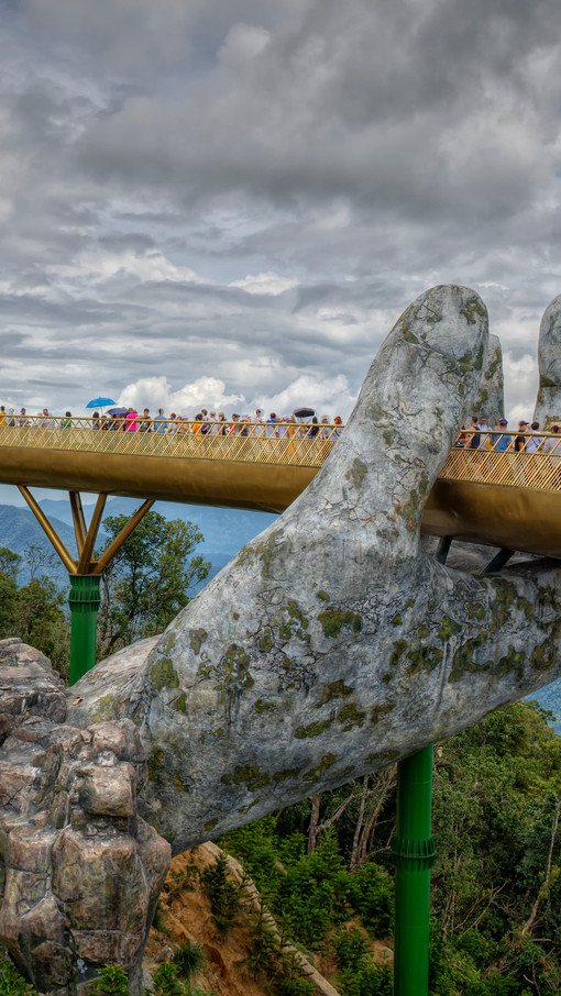 The Golden Bridge (or Hand Bridge) near Da Nang, Vietnam
