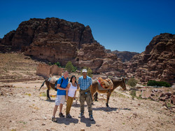 Taking a break on our tour in Petra
