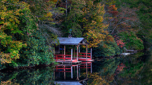 Boat House, Highlands, N.C. USA