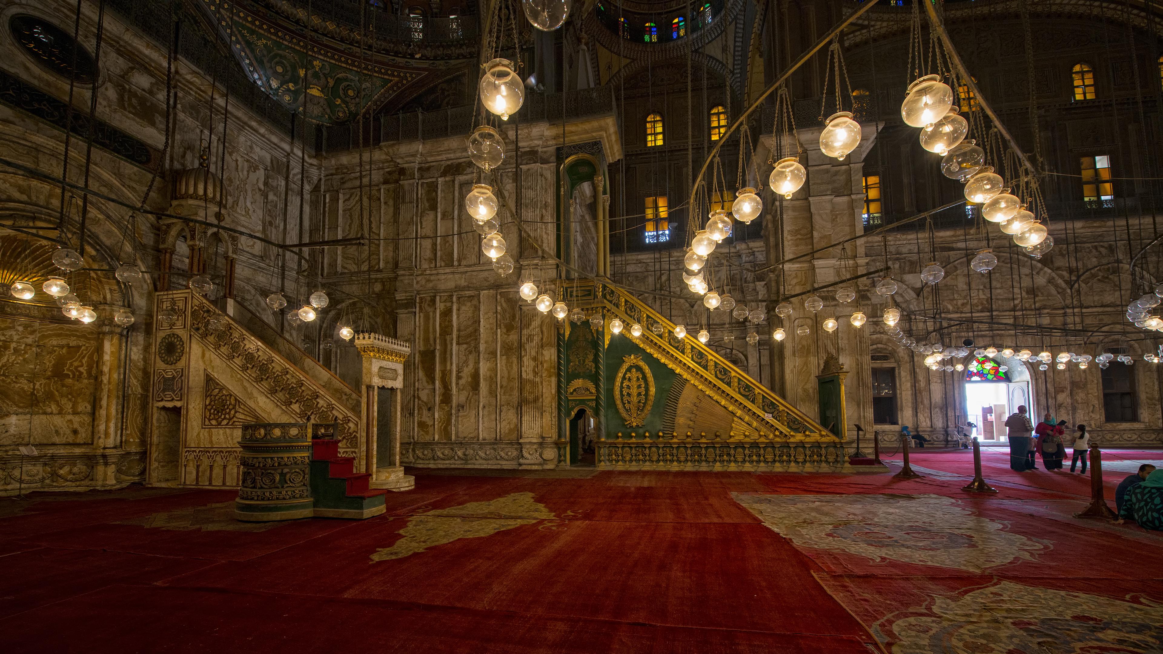 Inside the Saladin Citadel of Cairo