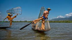 Fishermen on Inle Lake