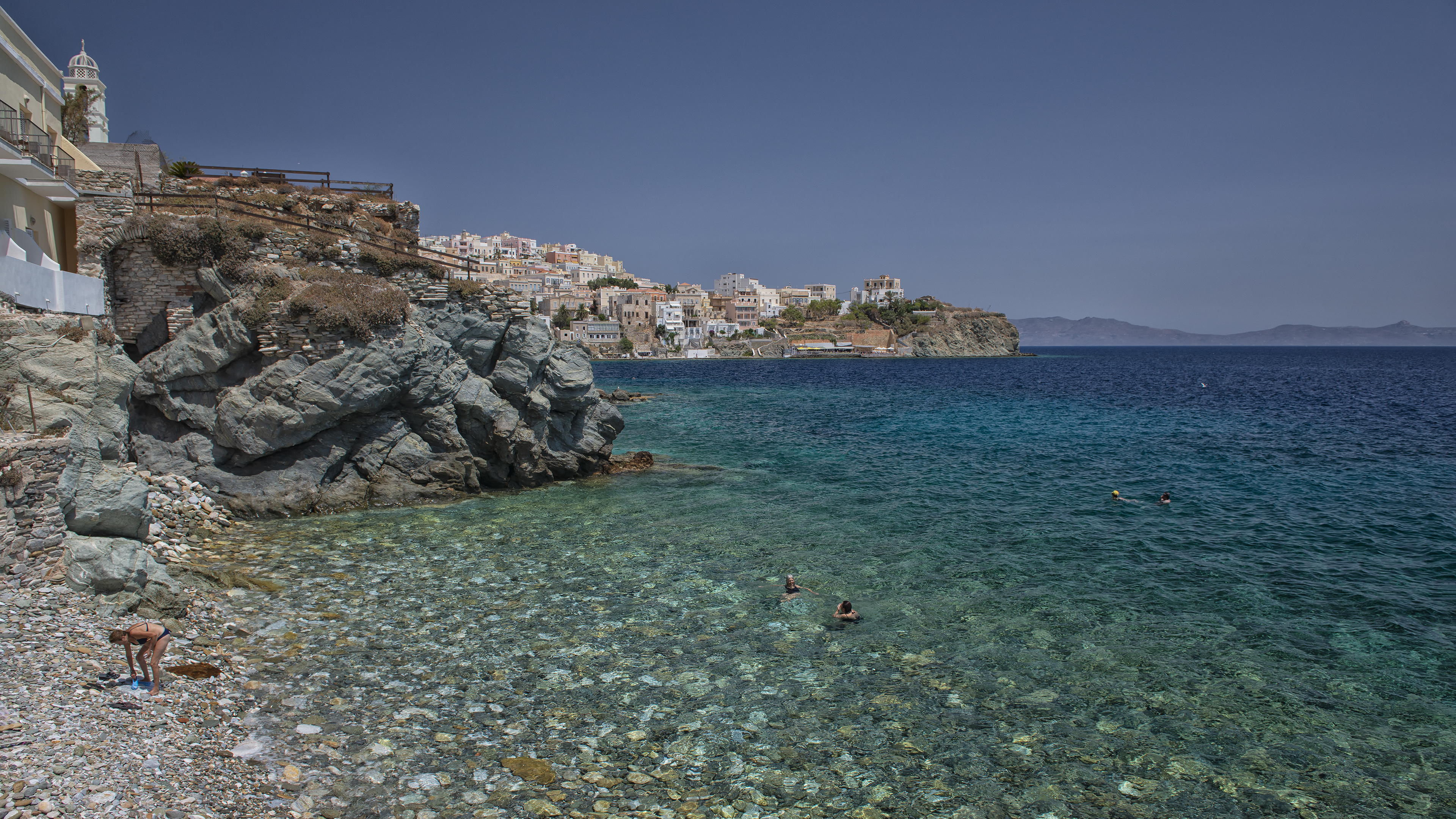 Beach in Syros, Greece