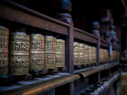 Prayer Wheels in Nepal