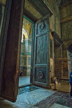 Door inside Hagia Sophia
