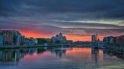 Sunset in Dublin
