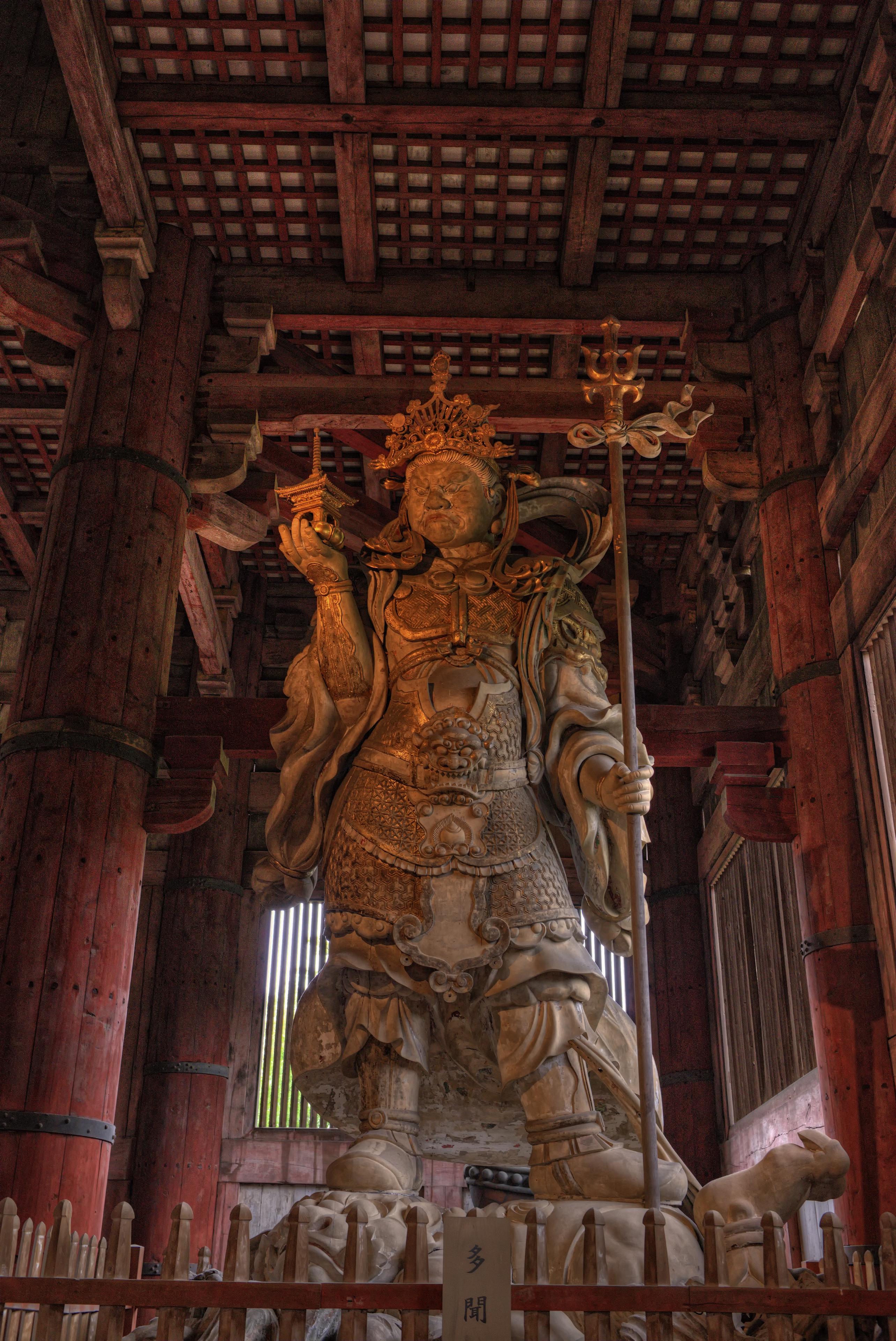 Komokuten statue in Daibutsu-den Todai-ji temple